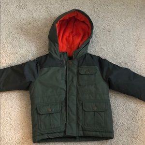 Osh Kosh 3t Toddler Winter Jacket Coat Green